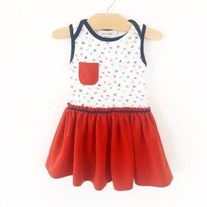 Dress made of vintage fabric & onesie 18-24